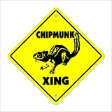 Best Chipmunk Repellents - Chipmunk Crossing Sign Zone Xing | Indoor/Outdoor | Review