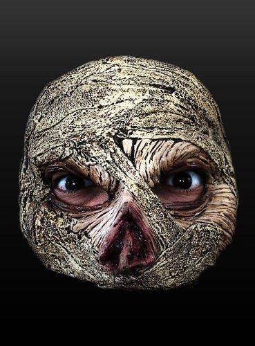 Maske Halbmaske Mumie Mumienmaske Halloween Karneval Fasching (Mumie Latex Halb Maske)