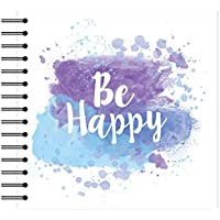 "Simply Creative Plain White Scrapbook Album - Be Happy 8""x8"""