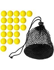 Sharplace 20 Pedazos Bolas de Golf Suave de Espuma +1 Pedazo Bolsa de Almacenamiento Con Malla de Nylon Net Golf