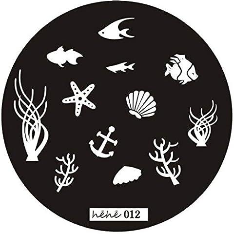Fortan Piatto di immagine di arte del chiodo d'acciaio Stamp Piastre manicure modello Stampaggio Strumento - Airbrush Della Vernice Template