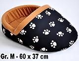 nanook Hundebett / Katzenbett / Pantoffelbett Blackshoe - Gr. M - 60 x 37 cm - schwarz - für Hunde und Katzen mit Faible für Schuhe
