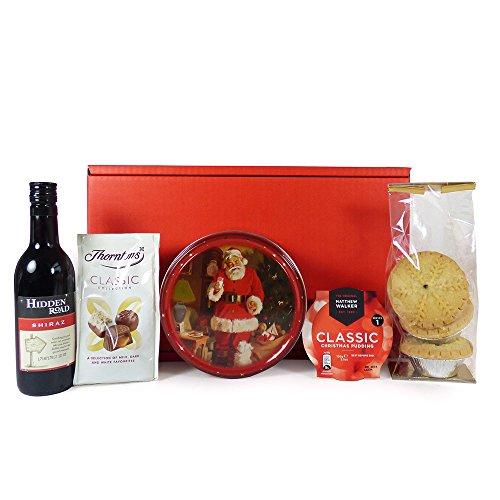 Thank You Santa Christmas Eve Red Gift Box Hamper
