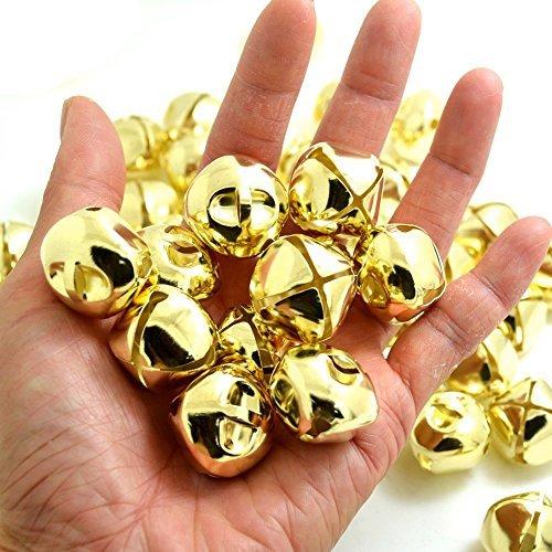 (bronagrand 50PCS Gold Jingle Bells Bulk für Festival Dekorationen DIY Craft, 2,5cm)