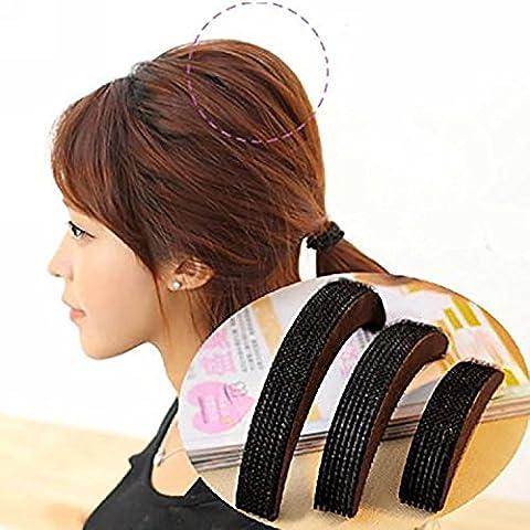 NALATI 3er Größe Haar-Kamm-Krawattenklammer Cele-up DIY Haar-Schönheits-Werkzeug Bump seine Nützliche Haarflechte Werkzeuge Haar Braider
