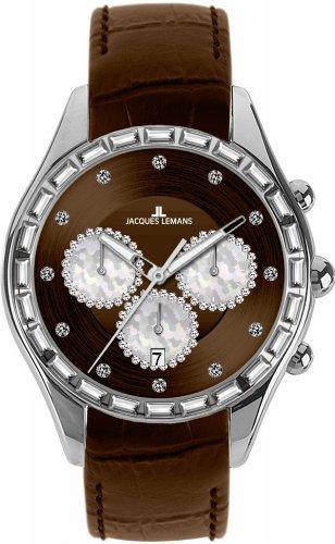 Jacques Lemans La Passion Damen-Armbanduhr Capri Analog Leder 1-1646D