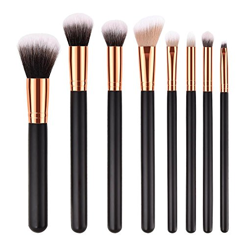 Everpert 8 pcs/lot Pro Manche en bois Lot de pinceaux de maquillage Contour Beauté Cosmétique outils stylos