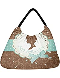 Snoogg Mothers Day Card Cute Vintage Frames With Ladies Silhouettes Beach Tote Shopper Bag Handbag Shoulder