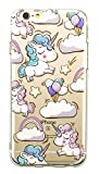 OFFLY Coque iPhone 6, iPhone 6S, Transparente Souple Silicone TPU étui d' Protection, Cute et Motif Fantaisie pour Apple iPhone 6 / 6S - Licorne