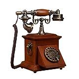 Health UK Telephone- Telefon Alte Massivholz Wählscheibe Antike Retro Dial Telefon Chinesischen Hause Festnetztelefon Festnetz Plattenspieler Telefon Mit Klassischen Glocke Ringer Welcome ( Farbe : Mahogany color , größe : Rotary dial )