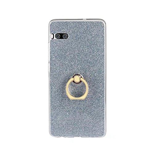 EKINHUI Case Cover Soft Flexible TPU Back Cover Case Shockproof Schutzhülle mit Bling Glitter Sparkles und Kickstand für Meizu Meilan PRO 7 Plus ( Color : White ) Blue