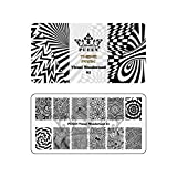 PUEEN Nail Art Stamping Plate - Visual Wonderland 01 - Theme Park Collection 125x65mm Unique Nailart Polish Stamping Manicure Image Plates Accessories