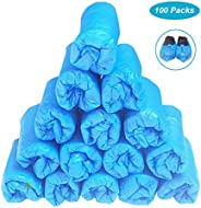 2000 Pack Disposable Shoe Covers CPE Blue Plastic Shoe Cover Waterproof Slip Resistant Hygienic Recyclable Boo
