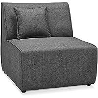 Alterego - Élément 1 place de canapé modulable 'INFINITY SEAT' gris foncé
