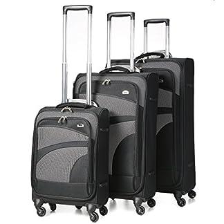 Aerolite 4 ruedas maleta de equipaje ligero spinner, 75 cm, 105 litros, negro, Lote 3