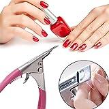 Demiawaking Manicure per Unghie UV Gel Acrilico Clipper Tip Pinzette per Unghie Gel Rosa