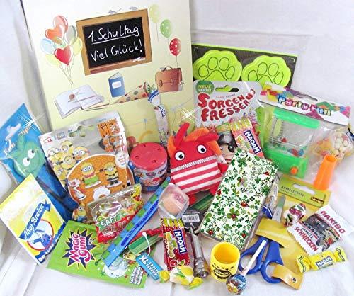 GESCHENK 101616 Geschenkbox Schulanfang gefüllt mit Spielsachen & Schulbedarf