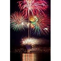 Feeling at home, Stampa artistica x cornice - quadro, fine art print, Poulsbo Fireworks II cm 94x64