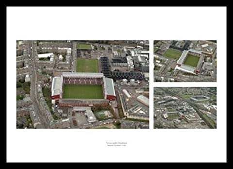 Framed Hearts FC Tynecastle Stadium Aerial View Photo