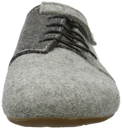 Haflinger Unisex-Erwachsene Everest Lars Hohe Hausschuhe Grau (Steingraumeliert)