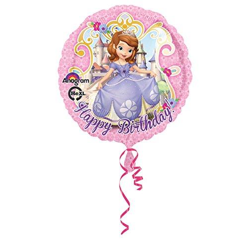 Amscan Luftballon mit Disney Sofia die Erste Design, rund, 46 cm (Einheitsgröße) (Pink)
