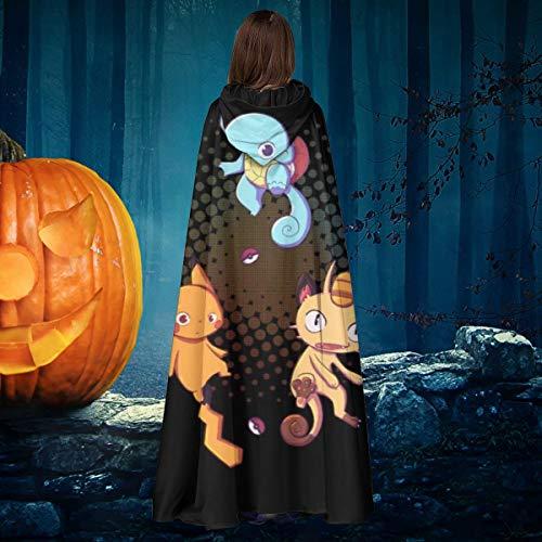 AISFGBJ Monster-of The Pocket Thinking About The Meaning of Life Unisex Weihnachten Halloween Hexe Ritter Kapuzenmantel Vampir Cape Umhang Cosplay Kostüm