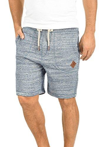 !Solid Aris Herren Sweatshorts Kurze Hose Jogginghose mit Melierung und Kordel Regular Fit, Größe:L, Farbe:Insignia Blue (1991) - Herren-baggy-hose