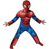 Spider-Man Deluxe último Clásico - Disfraz Infantil - Medio - 116cm - Edad 5-6
