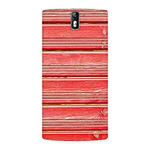 Enticing Red Woodlock Print Back Case Cover for One Plus One