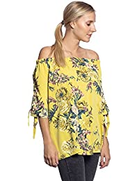 Abbino IG019 Camisas Bluses Tops para Mujer - Hecho en Italia - Colores Variados - Mangas Largas Redondo Viscosa Sale Joven Moda…