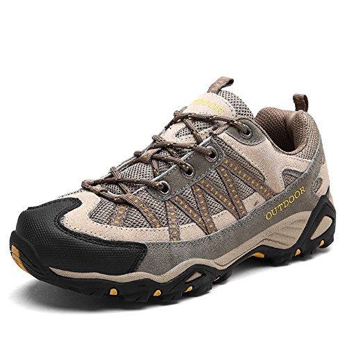 Wandern Schuhe Antiskid Trekking Männer Frauen Unisex Paar Outdoor Breathable Klettern Schuh,Schwarz-36