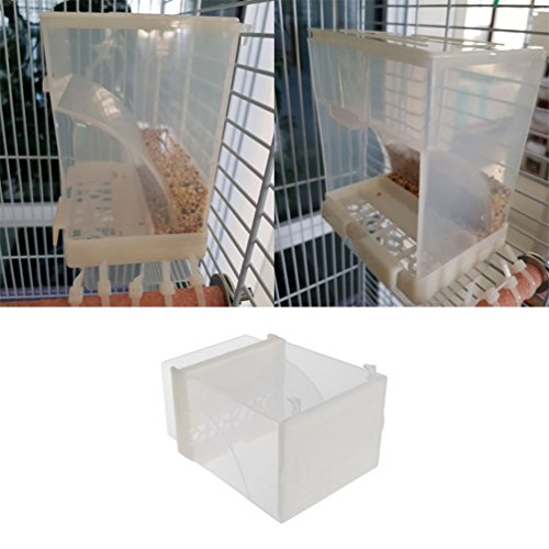 Keer123 Bird Futterautomaten Food Container Samen Spender Schüssel für Sittiche Nymphensittiche Sittiche Graupapageien Kakadu Ara Amazon Unzertrennliche Finch Kanarischen