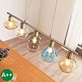 Lampada a sospensione 'Tamina' dimmerabile (Giovanile) colore Trasparente, in Vetro ad es. Soggiorno & Sala da pranzo (5 luci, E14, A++) di LINDBY | lampada a sospensione, lampada da soffitto