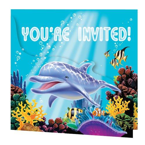 Creative Converting Ocean Party 8Zählen Enhanced Party Einladungen (Nemo Birthday Banner)