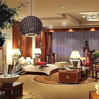 elegante rattan laterne anh nger lampe 220 v best f r wohnzimmer beleuchtung. Black Bedroom Furniture Sets. Home Design Ideas