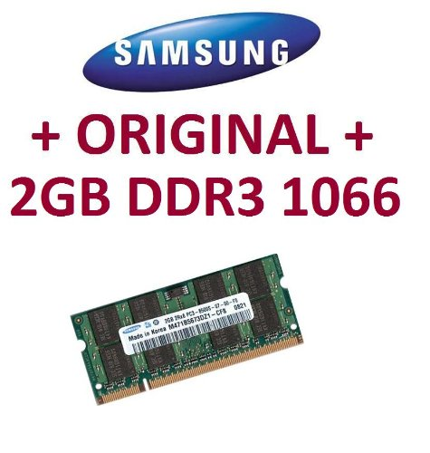 Samsung original 2 GB 204 pin SO-DDR3-1066 (PC3-8500) 128Mx8x16 double side (M471B5673EH1-CF8)