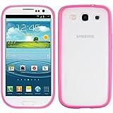 kwmobile Crystal Case Hülle für Samsung Galaxy S3 / S3 Neo aus TPU Silikon mit Rahmen - transparente Schutzhülle Cover Bumper in Pink