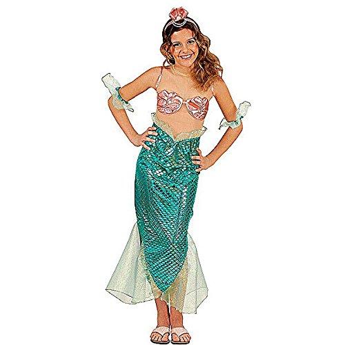 Widmann 55417 - Kinderkostüm Meerjungfrau für Mädchen, 8 - 10 Jahre (Meerjungfrau Muschel Bh Kostüm)