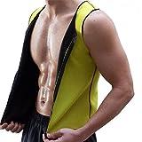 Accessoire sport minceur : Gilet de sport sudation sauna néoprène jaune (L)