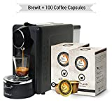 #7: Bonhomia BrewIT BB03G100 Single Serve Coffee Brewer with 100 Coffee Capsules (Black)
