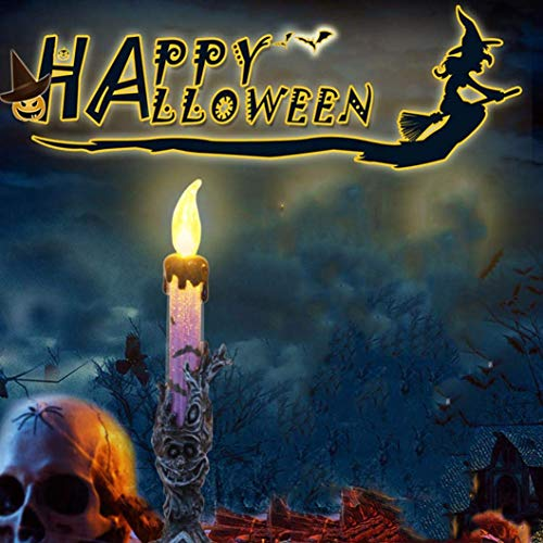 Ogquaton 1pcs Halloween flammenlose LED-Teelichtkerzen, batteriebetriebene LED-Teelichtkerzen, künstliche Kerzen, Teelichter für Halloween-Dekoration Teil Lila Langlebig und praktisch