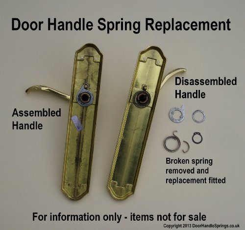 Details About Door Handle Spring Repair Kit Six 2 5 Turn 2 5mm Thick Coils Plus Six Circlips