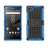 Sony Xperia Z5 Compact Outdoor Hülle | JAMMYLIZARD Schutzhülle [Alligator] Doppelschutz Handyhülle Hardcase aus Polycarbonat und Silikon Backcover Lifeproof Case Cover, Blau