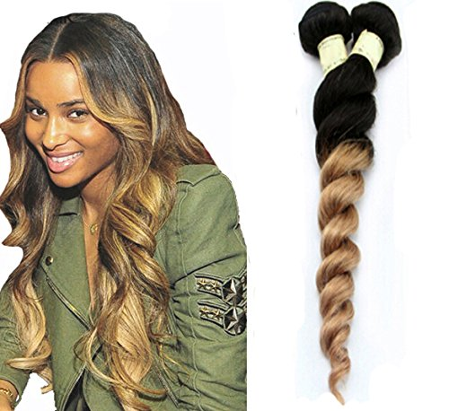 Romantic Angels Tissage Loose Waves Cheveux Vierges 16 Pouces/40cm 100g Couleur#1b/27