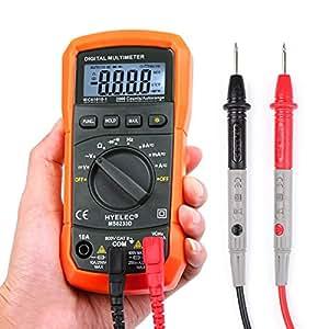 Multimetro, Crenova MS8233D Auto Range Multimetro Digitale Rilevatore di AC DC Tensione Corrente Voltmetro Portatile con Retroilluminazione