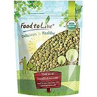 Lentejas verdes Bio por Food to Live (Eco, Ecológico, granos secos enteros, no transgénicos, crudos, germinados, Kosher, a granel) - 1 libra