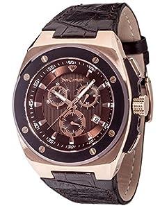 Yves Camani Quentin - Reloj para Hombre, Color marrón/Negro de Yves Camani