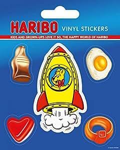 Confiseries Poster-Sticker Autocollant - Haribo Petits Nounours À Gélatine, 5 Stickers Vinyle (12 x 10 cm)