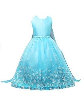 Vicloon Vestido para Niñas de Copo de Nieve Princesa del Hielo y Nieve Falda/Vestido de Tutú Azul para Ceremonias...