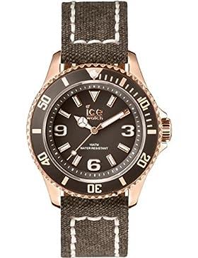 Ice-Watch Unisex-Armbanduhr Canvas Brown Analog Quarz Leder CA.BN.RG.U.C.14